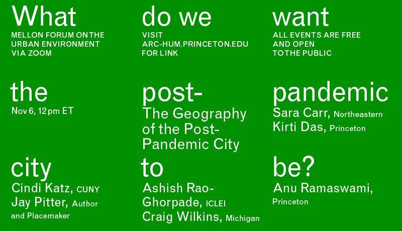 Graphic: What do we want the post-pandemic city to be?