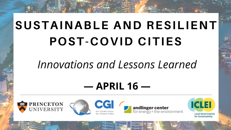 Sustainable Resilient Post Covid Cities - April 16
